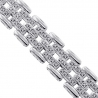 18K White Gold 2.20 ct Diamond Bicycle Link Mens Bracelet