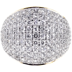 14K Yellow Gold 3.00 ct Diamond Womens Wedding Band Ring