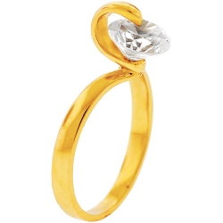 14K Yellow Gold Moving Swarovski Crystal Birthstone Womens Ring