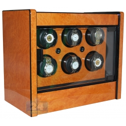 Orbita Avanti 6 Rotorwind Burl Wood Watch Winder W22028