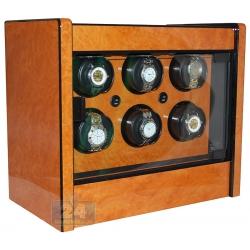 Orbita Avanti 6 Programmable Burl Wood Watch Winder W22030
