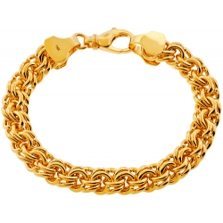 14K Yellow Gold Russian Bismark Mens Bracelet 10 mm 8.5 inch