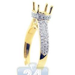 18K White Gold 0.47 ct Diamond Engagement Ring Setting