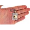 10K Yellow Gold 0.48 ct Diamond Jesus Christ Face Medallion Pendant