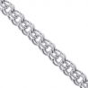 14K White Gold Russian Bismark Mens Chain 5.5 mm 24 inches
