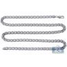 Custom 14K White Gold Russian Bismark Mens Chain 5.5 mm