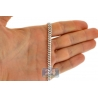 Solid 10K White Gold Miami Cuban Link Mens Chain 5 mm