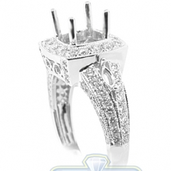 18K White Gold 1.07 ct Diamond Semi Mount Engagement Setting