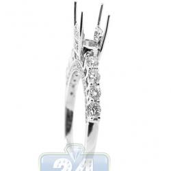 18K Gold 1.05 ct Diamond Semi Mount Engagement Ring Setting
