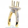 18K Yellow Gold 1.31 ct Diamond Semi Mount Setting Engagement Ring