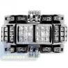 Black 14K White Gold 1.60 ct Round Princess Cut Diamond Mens Ring