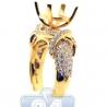 18K Yellow Gold 1.55 ct Diamond Semi Mount Setting Engagement Ring