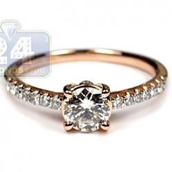 14K Rose Gold 1.00 ct Diamond Womens Engagement Ring