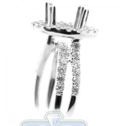 18K White Gold 1.11 ct Diamond Engagement Semi Mount Setting