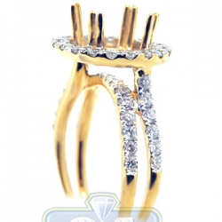 18K Yellow Gold 1.11 ct Diamond Womens Engagement Ring Setting