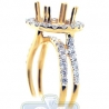 18K Yellow Gold 1.11 ct Diamond Engagement Ring Semi Mount Setting