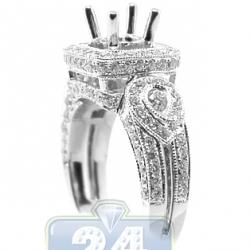 18K White Gold 1.30 ct Diamond Semi Mount Engagement Setting