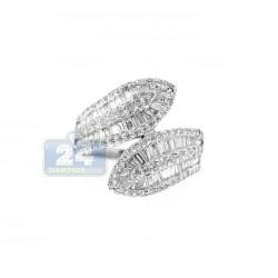14K White Gold 1.44 ct Baguette Diamond Womens Band Ring