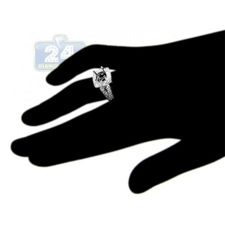 18K White Gold 1.07 ct Diamond Semi Mount Engagement Ring Setting