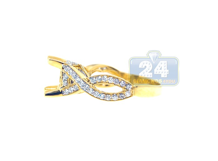 18K Yellow Gold 0 60 ct Diamond Engagement Ring Setting
