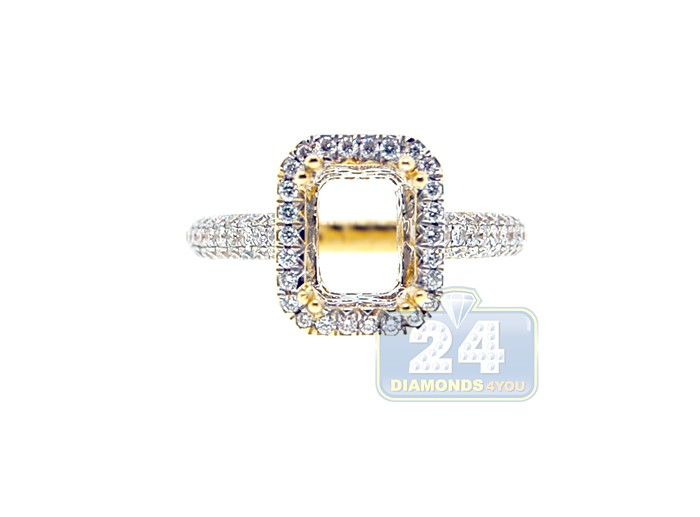 18K Yellow Gold 0 87 ct Diamond Engagement Ring Setting