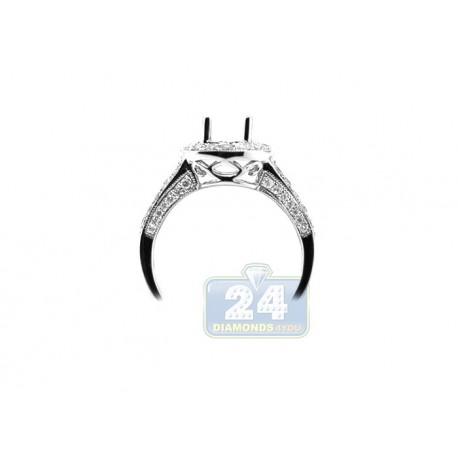 14K White Gold 0.89 ct Diamond Engagement Ring Setting