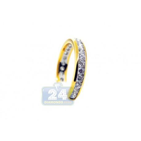 14K Yellow Gold 1.06 ct Diamond Womens Band Ring
