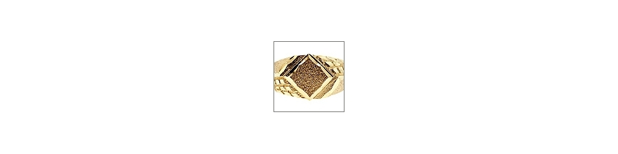 Real Gold Mens Rings - 10K 14K Ring for Women