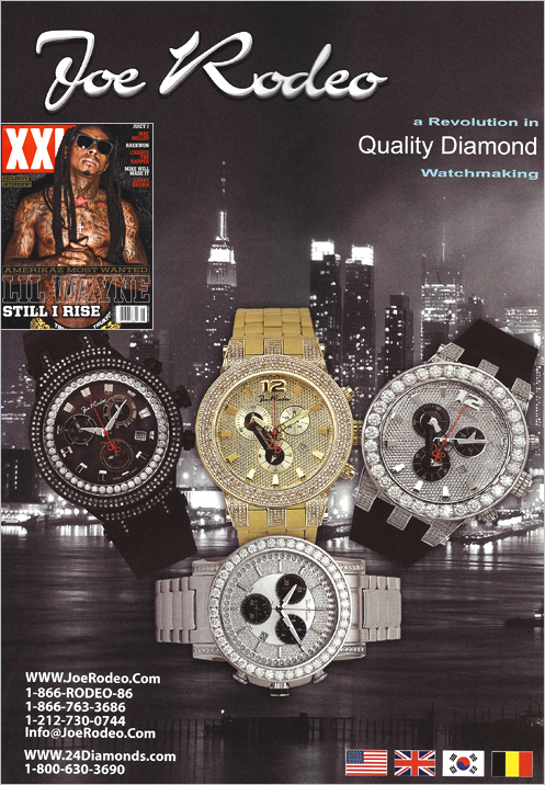 Our July/August 2013 Joe Rodeo Advertisement Campaign / XXL Magazine - 24diamonds.com