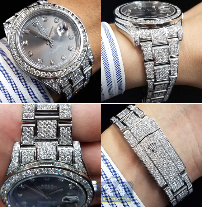 Customized Diamond Rolex Watch