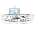 14K White Gold 0.16 ct Diamond Womens Ring - 24diamonds.com