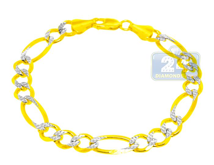 Braccio Mens White Gold Bracelets - 14k White Gold Diamond Braccio