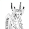 18K White Gold 0.66 ct Diamond Engagement Ring Set - 24diamonds.com