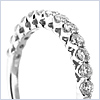 14K White Gold 0.58 ct Diamond Womens Band - 24diamonds.com
