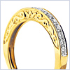 14K Yellow Gold 0.48 ct Diamond Womens Band - 24diamonds.com