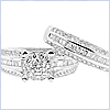 14K White Gold 1.66 ct Diamond Engagement Ring Set - 24diamonds.com