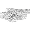 14K White Gold 1.37 ct Diamond Engagement Ring Set - 24diamonds.com