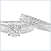 14K White Gold 1.64 ct Diamond Engagement Ring Set - 24diamonds.com