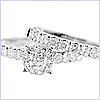 14K White Gold 1.46 ct Diamond Engagement Ring Set - 24diamonds.com