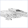 14K White Gold 0.64 ct Diamond Engagement Ring Set - 24diamonds.com