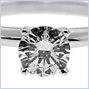 18K White Gold 0.71 ct Diamond Womens Solitaire Engagement Ring - 24diamonds.com