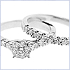14K White Gold 1.00 ct Diamond Engagement Ring Set - 24diamonds.com