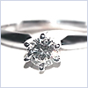 14K White Gold 6 Prong 0.25 ct Diamond Solitaire Ring - 24diamonds.com