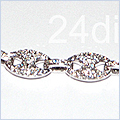 14K White Gold Mens 2.70 ct Diamond Bracelet 8 1/8 Inches - 24diamonds.com