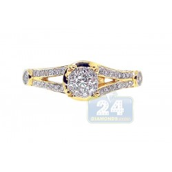 14K Yellow Gold 0.70 ct Diamond Engagement Ring