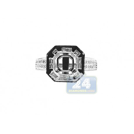 14K White Gold 0.60 ct Diamond Engagement Ring Setting