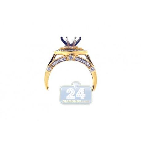 14K Yellow Gold 0.51 ct Diamond Engagement Ring Setting