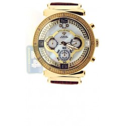 Aqua Master Exclusives Yellow Steel Diamond Womens Pearl Dial Watch