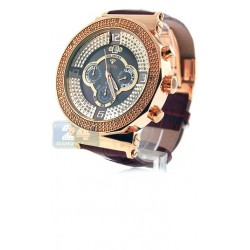 Aqua Master Exclusives Rose Gold Round Diamond Mens Grey Watch