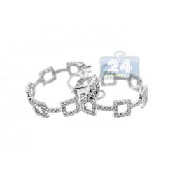 14K White Gold 1.51 ct Diamond Hoop Earrings